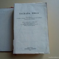 Libros de segunda mano: LIBRO SAGRADA BIBLIA PROLOGO DE SU EMINENCIA DR. D. JOSÉ MARÍA BUENO MONREAL. Lote 58134980