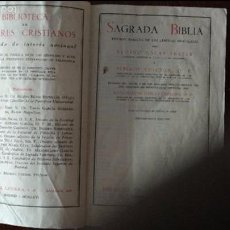 Libros de segunda mano: SAGRADA BIBLIA. E. NÁCAR FUSTER Y A. COLUNGA.. Lote 58237281
