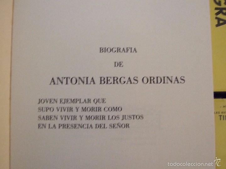 Libros de segunda mano: BIOGRAFIA ANTONIA BERGAS ORDINAS - ARNALDO SEGUI - COLON INCA 1981 MALLORCA MARIA DE LA SALUT - Foto 2 - 58326763