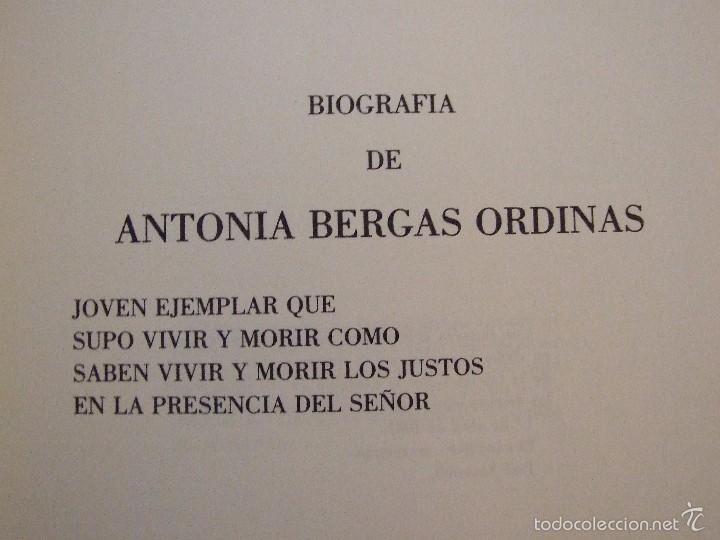 Libros de segunda mano: BIOGRAFIA ANTONIA BERGAS ORDINAS - ARNALDO SEGUI - COLON INCA 1981 MALLORCA MARIA DE LA SALUT - Foto 3 - 58326763
