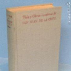 Libros de segunda mano: VIDA Y OBRAS COMPLETAS DE SAN JUAN DE LA CRUZ.-VVAA. Lote 65846734