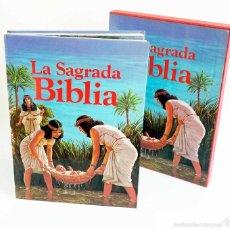 Libros de segunda mano: LA SAGRADA BIBLIA. CON ESTUCHE 1980. MUY ILUSTRADA CÓMIC.. Lote 58416000