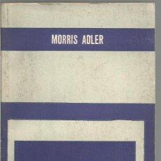Libros de segunda mano: MORRIS ADLER. EL MUNDO DEL TALMUD. PAIDOS. Lote 59541295
