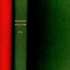 Libros de segunda mano: DOCUMENTS D'ESGLÈSIA ABADIA DE MONTSERRAT 1971 - 1972 - 1974 DOS VOLUMS.. Lote 59839980