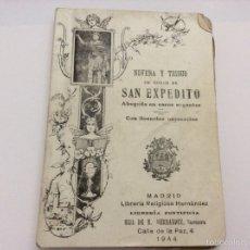 Libros de segunda mano: NOVENA Y TRIUDO EN HONOR A SAN EXPEDITO 1944. Lote 59992914