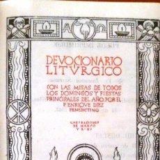 Libros de segunda mano: DEVOCIONARIO LITÚRGICO (P. ENRIQUE DÍEZ 1942) SIN USAR.. Lote 60280727
