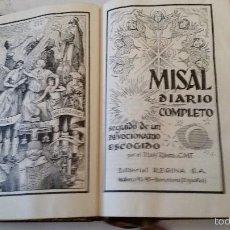 Libros de segunda mano: MISAL DIARIO COMPLETO. RIBERA. 1962. Lote 60314735
