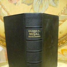 Libros de segunda mano: MISAL LATINO-CASTELLANO Y DEVOCIONARIO, DE CARLOS G. GOLDARAZ, S.I. 1.956.. Lote 61188647