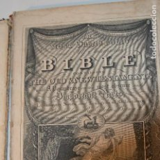 Libros de segunda mano: ANTIGUA BIBLIA EN INGLÉS, 1827, REV. JOHN BROWN, ANTIGUO, NUEVO TESTAMENTO. J. M. GOWAN & SON. LONDO. Lote 61468871