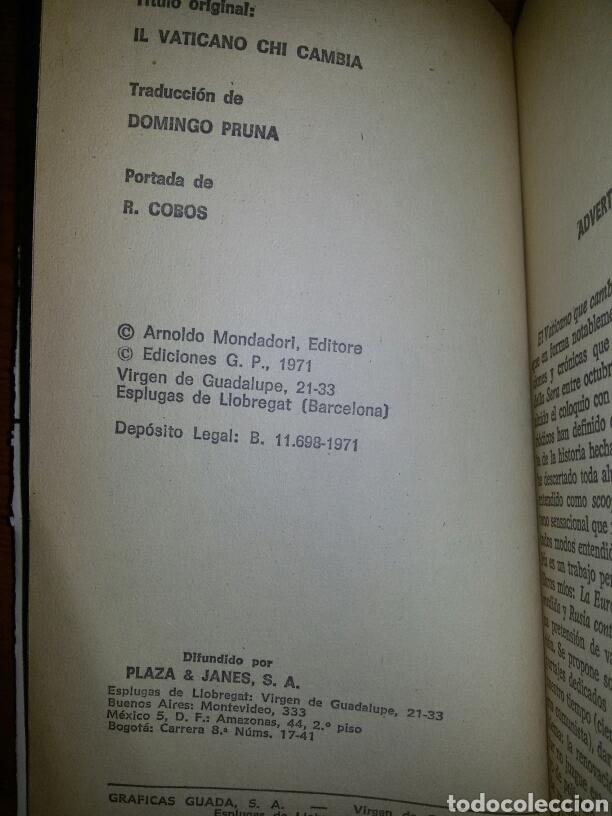 Libros de segunda mano: EL VATICANO QUE CAMBIA / Alberto Cavallari / 1971 - Foto 2 - 62760743