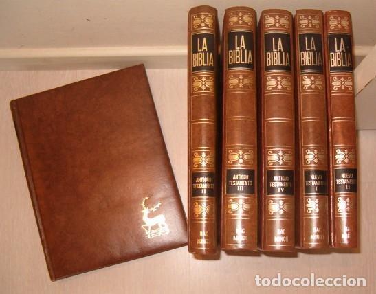 LA BIBLIA. TOMOS I, II, III Y IV: ANTIGUO TESTAMENTO. TOMOS I Y II: NUEVO TESTAMENTO. RMT77047. (Libros de Segunda Mano - Religión)