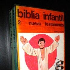 Libros de segunda mano: BIBLIA INFANTIL EN 2 LIBROS 1 ANTIGUO TESTAMENTO 2 NUEVO TESTAMENTO / REGINA / CON ESTUCHE. Lote 63110512