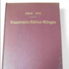 Libros de segunda mano: ENQUIRIDION BIBLICO BILINGÜE. JESUS DIAZ. EDICIONES A.F.E.B.E. SEGOVIA 1954. TAPA DURA. 559 PAGINAS.. Lote 63254052