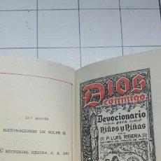 Libros de segunda mano: DIOS CONMIGO, DEVOCIONARIO PARA NIÑOS Y NIÑAS - LUIS RIBERA - EDITORIAL REGINA AÑO 1957. Lote 63390306