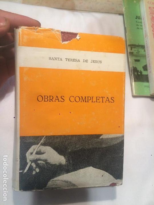 OBRAS COMPLETAS DE SNTA TERESA DE JESÚS AÑO 1971 (Libros de Segunda Mano - Religión)