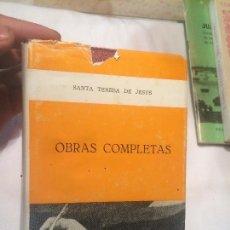 Libros de segunda mano: OBRAS COMPLETAS DE SNTA TERESA DE JESÚS AÑO 1971 . Lote 64766175