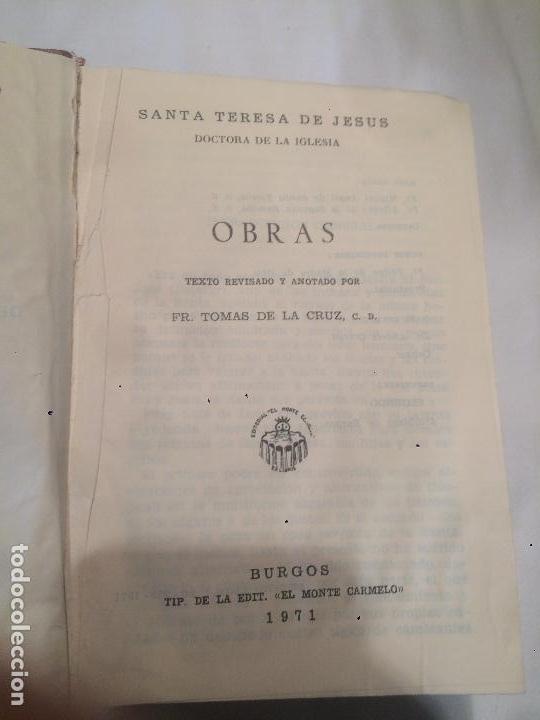 Libros de segunda mano: Obras completas de Snta Teresa de Jesús año 1971 - Foto 2 - 64766175