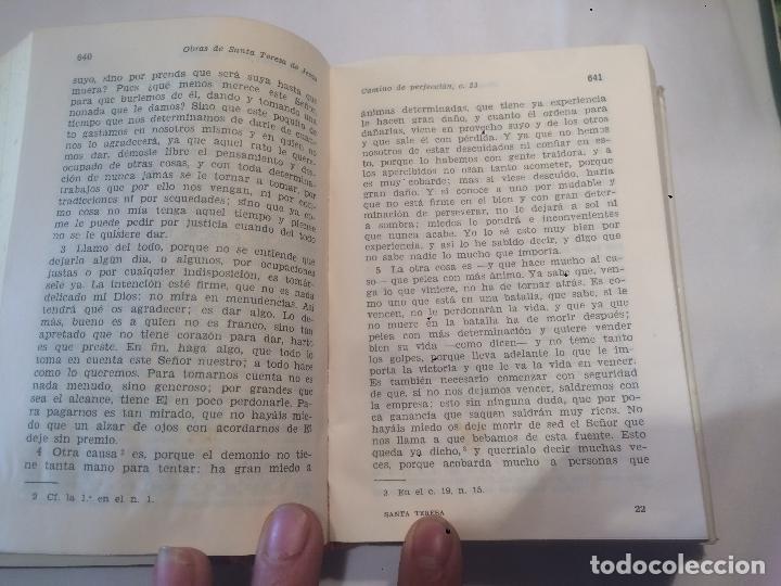 Libros de segunda mano: Obras completas de Snta Teresa de Jesús año 1971 - Foto 3 - 64766175