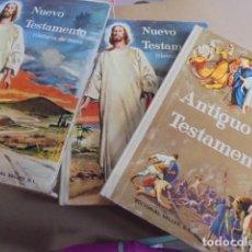 Libros de segunda mano: BIBLI NUEVO Y ANTIGUO TESTAMENTO ESTUCHE 2 TOMOS VALLÉS - DE LIBRERIA IMPECABLES - AÑOS 60. Lote 65435540