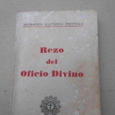 Libros de segunda mano: LIBRO REZO DEL OFICIO DIVINO 1966 VALENCIA L-809-693. Lote 66210370
