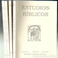 Libros de segunda mano: ESTUDIOS BÍBLICOS. VOLUMEN LX. AÑO 2002. 4 TOMOS. A-RE-1115. Lote 70101225
