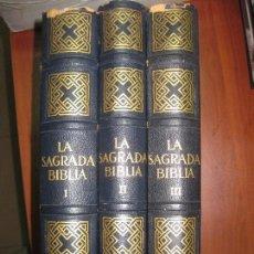Libros de segunda mano: LA SAGRADA BIBLIA. MONTANER Y SIMON. 1961. 3 VOLUMENES MUY ILUSTRADOS CON NUMEROSOS MAPAS.. Lote 71169969