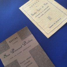 Libros de segunda mano: 2 NOVENA AL GLORIOSO SAN PASCUAL BAILÓN. MONFORTE DEL CID Y NOVENA A NUESTRA DE ORITO.. Lote 71240549