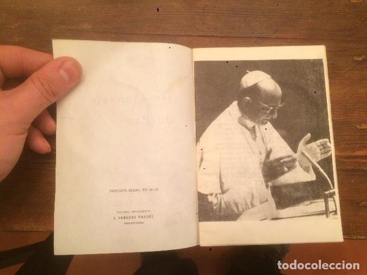 Libros de segunda mano: Antiguo libro un mensaje de paz discurso de Pablo VI en las naciones unidas año 1965 - Foto 2 - 71415763