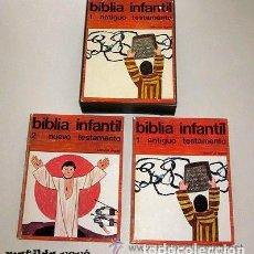 Libros de segunda mano: BIBLIA INFANTIL ANTIGUO Y NUEVO TESTAMENTO. EN SU CAJA ESTUCHE. BARCELONA 1973. Lote 180135815