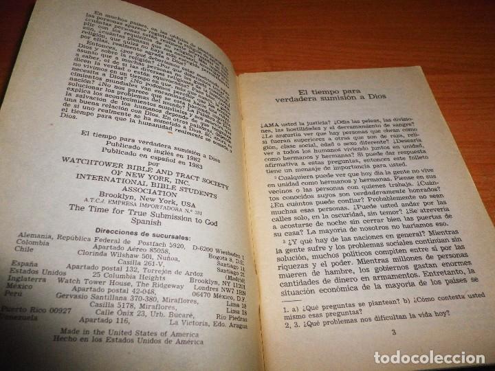 Libros de segunda mano: EL TIEMPO PARA VERDADERA SUMISION A DIOS FOLLETO TESTIGOS DE JEHOVA 1983 USA WATCHTOWER - Foto 2 - 74731127