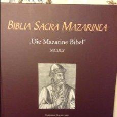 Libros de segunda mano: BIBLIA SACRA MAZARINEA. Lote 74996255