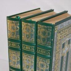 Libros de segunda mano: LA BIBLIA - TRES TOMOS - ILUSTRACIONES DE GUSTAVE DORÉ - EDICIÓN REVISADA Y AUMENTADA - 1988. Lote 76588863
