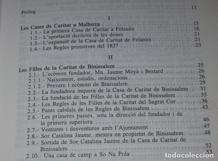 Libros de segunda mano: LES GERMANES DE LA CARITAT A INCA . PERE JOAN LLABRÉS . 1993 . EXCEL·LENT EXEMPLAR. MALLORCA - Foto 5 - 76922787