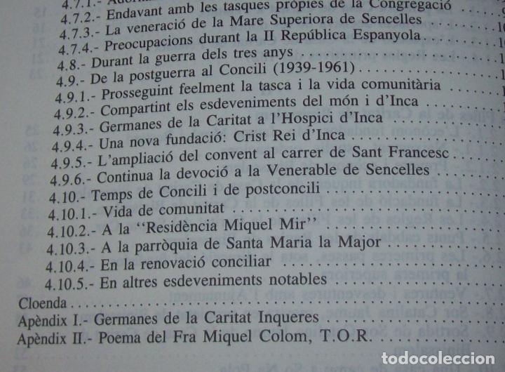 Libros de segunda mano: LES GERMANES DE LA CARITAT A INCA . PERE JOAN LLABRÉS . 1993 . EXCEL·LENT EXEMPLAR. MALLORCA - Foto 9 - 76922787