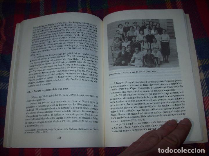 Libros de segunda mano: LES GERMANES DE LA CARITAT A INCA . PERE JOAN LLABRÉS . 1993 . EXCEL·LENT EXEMPLAR. MALLORCA - Foto 18 - 76922787