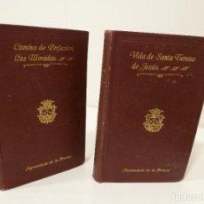 Libros de segunda mano - OBRAS DE SANTA TERESA DE JESÚS. APOSTOLADO DE LA PRENSA. TOMOS 1 Y 2. - 77275049