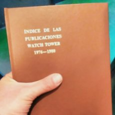Libros de segunda mano: ÍNDICE DE LAS PUBLICACIONES WATCHTOWER 1976 1980 TESTIGOS DE JEHOVÁ. Lote 78025470