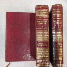 Libros de segunda mano: SAGRADA BIBLIA - P. JOSE MIGUEL PETISCO - 3 TOMOS, EDITORIAL MAUCCI 1964 + INFO. Lote 80141069