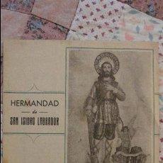 Libros de segunda mano: ANTIGUO PROGRAMA.FIESTA DE SAN ISIDRO LABRADOR.CIRCULO DE LABRADORES.PATERNA DEL CAMPO.HUELVA.1958. Lote 80531913