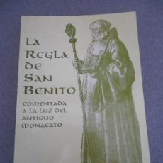Libros de segunda mano: LA REGLA DE SAN BENITO. Lote 81472228