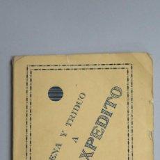 Libros de segunda mano: NOVENA Y TRIDUO EN HONOR DE SAN EXPEDITO. MADRID. Lote 81646008