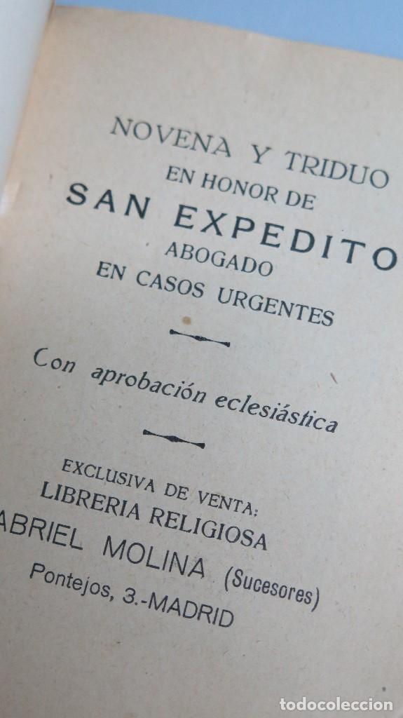 Libros de segunda mano: NOVENA Y TRIDUO EN HONOR DE SAN EXPEDITO. MADRID - Foto 2 - 81646008