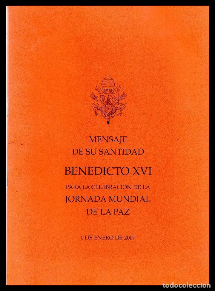 XX MENSAJE DE SU SANTIDAD PARA LA CELEBRACION DE LA JORNADA MUNDIAL DE LA PAZ. (Libros de Segunda Mano - Religión)