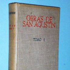Libros de segunda mano: AOBRAS DE SAN AGUSTÍN. TOMO PRIMERO (EIDICIÓN BILINGÜE). Lote 83574208