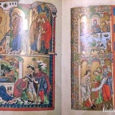 Libros de segunda mano: FACSÍMIL DE LOS EVANGELIOS, CÓDICE MEDIEVAL ILUMINADO (S. XIII). Lote 192531146