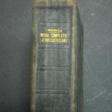 Livros em segunda mão: MISSAL COMPLETO LATINO CASTELLANO. P. VICENTE MOLINA. EDITORIAL HISPANIA. VALENCIA 1947.. Lote 83927904