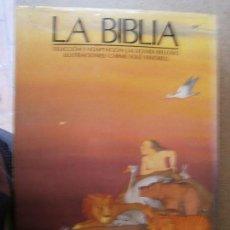 Libros de segunda mano: LIBROS HISTORIA RELIGION - LA BIBLIA ADAPTACION ROVIRA BELLOSO ILUSTRACIONES CARME SOLE DESTINO 1990. Lote 85424100