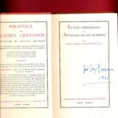Libros de segunda mano: EL PATO APRESURADO OAPOLOGIA DE LOS HOMBRES POR JOSE MARIA CABODEVILLA 315 PAGS AÑO 1970 LR4291. Lote 86256504