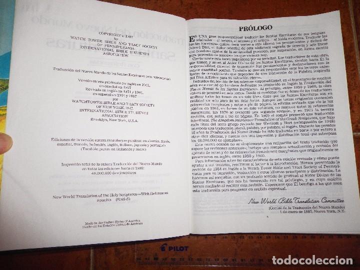 Libros de segunda mano: BIBLIA TRADUCCION DEL NUEVO MUNDO DE LAS SANTAS ESCRITURAS GRANDE TESTIGOS DE JEHOVA WATCHTOWER - Foto 3 - 174037713