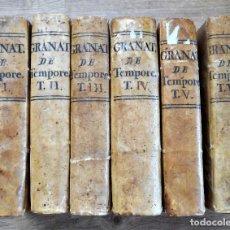 Libros de segunda mano: FRAY LUIS DE GRANADA - CONCIONUM DE TEMPORE - 6 TOMOS (I AL VI) - VALENCIA AÑO 1766-68. Lote 89006208